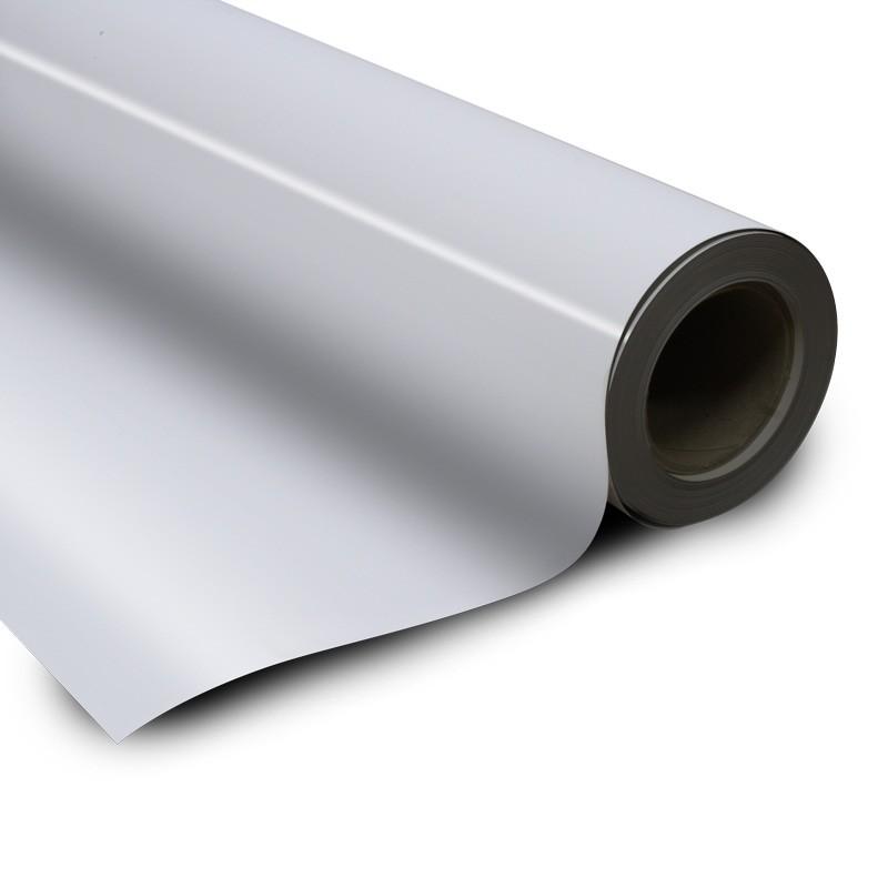 Fogli metallici bianco lucido adesivo 0 6mm x 50cm x 100cm for Foglio metallico