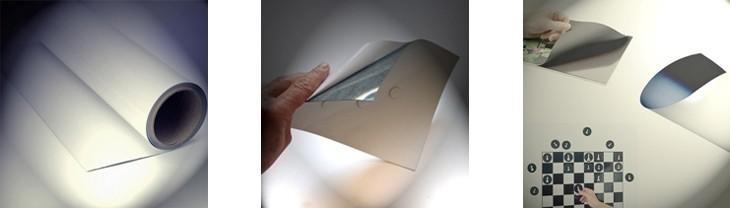 Fogli metallici bianco opaco 0 6mm x 62cm x 30m fogli for Foglio metallico